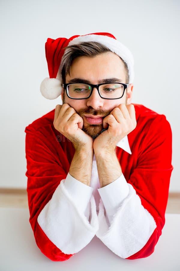 Santa Claus ennuyée photos stock