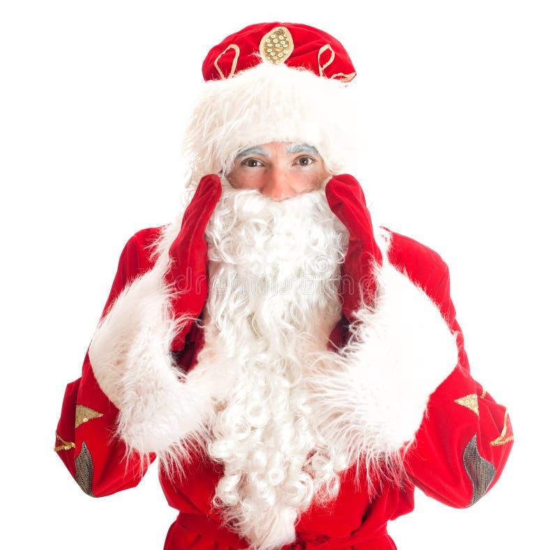 Santa Claus está chamando alguém fotos de stock