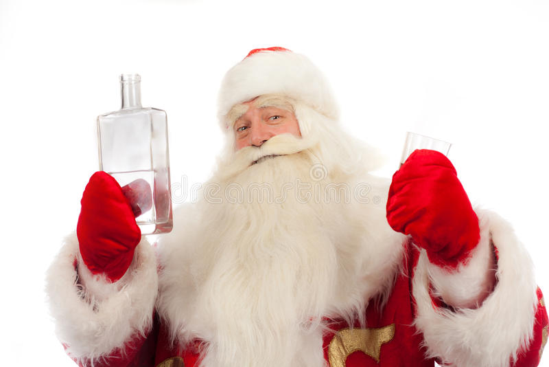 Santa Claus está derramando fotografia de stock royalty free