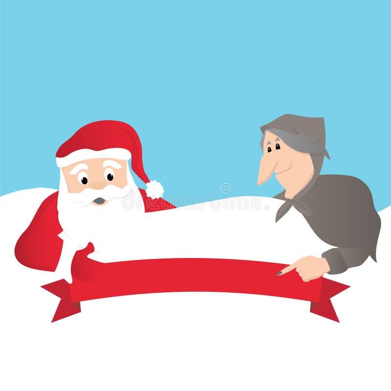 Santa Claus et Italien Befana illustration libre de droits