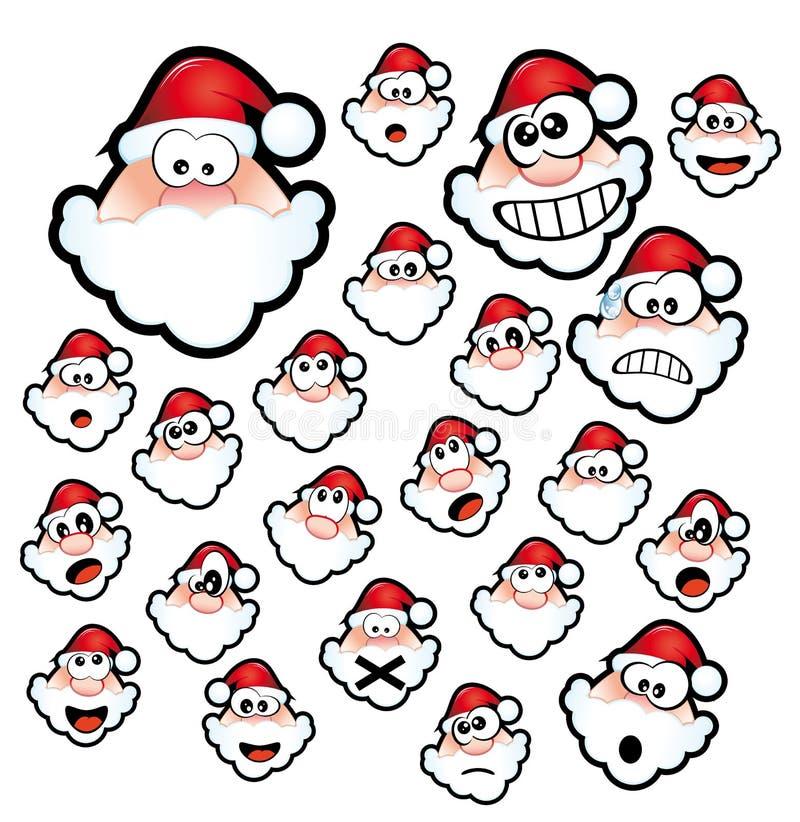 Santa Claus Expressions stock illustration