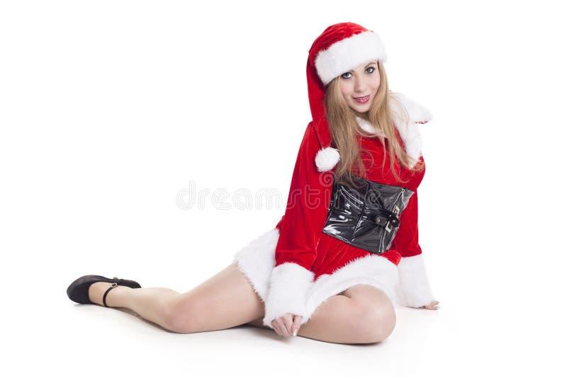 Santa Claus féminine attirante image libre de droits