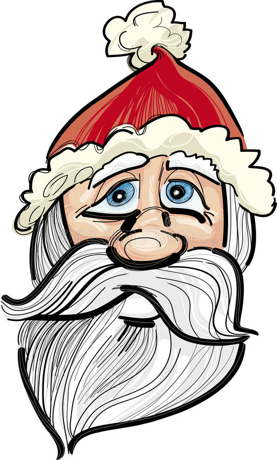 Download Santa claus face stock vector. Image of cheerful, xmas - 21987890