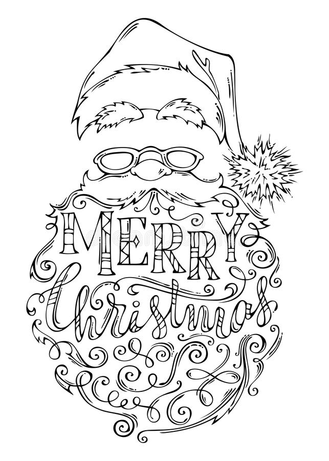 Doodles Merry Christmas Lettering. Stock Vector ...