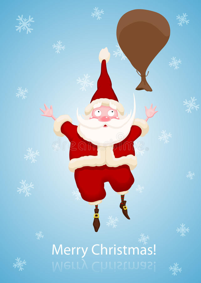 Download Santa Claus Fall To The Sky Stock Vector - Illustration: 22448526