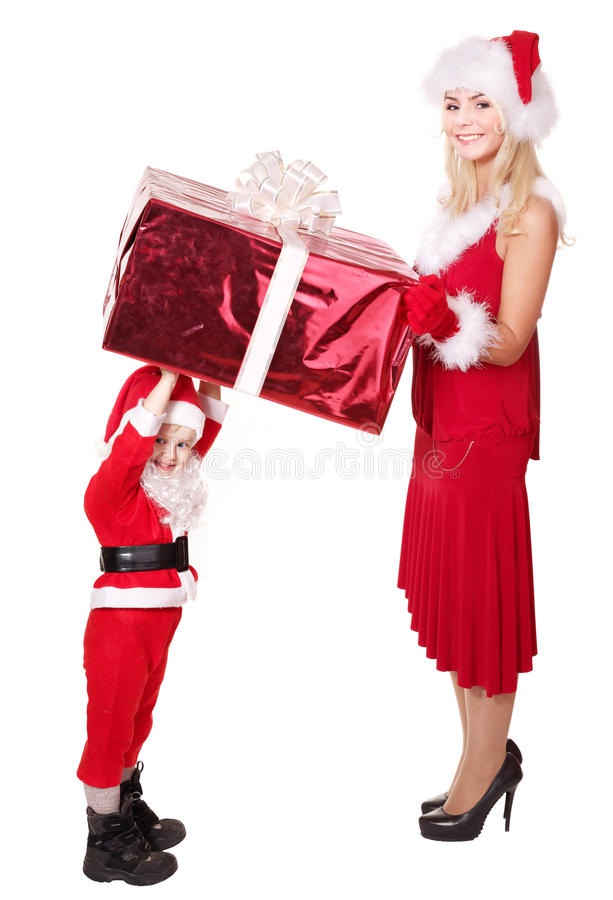 Download Santa Claus Family With Child. Stock Photo - Image: 17167630