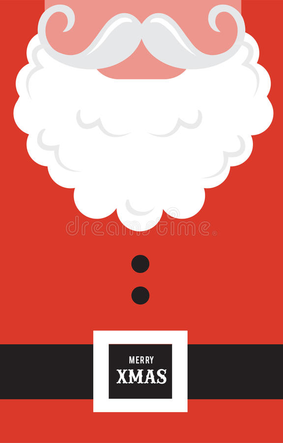Santa Claus fashion silhouette hipster style. Greeting card royalty free illustration