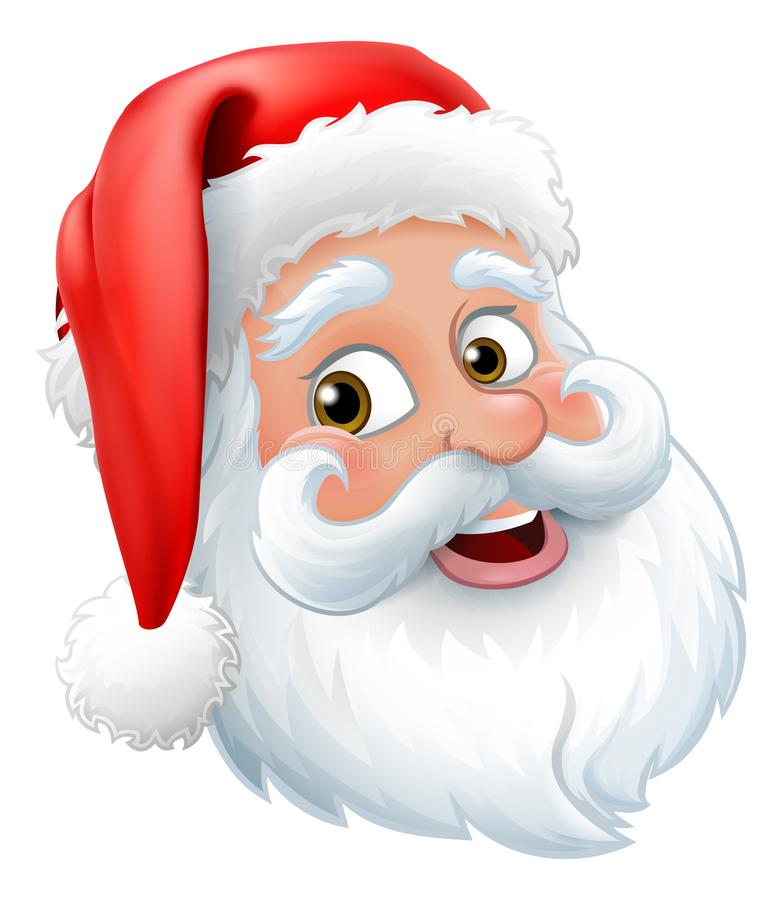 Santa Claus Father Christmas Cartoon Character illustration de vecteur