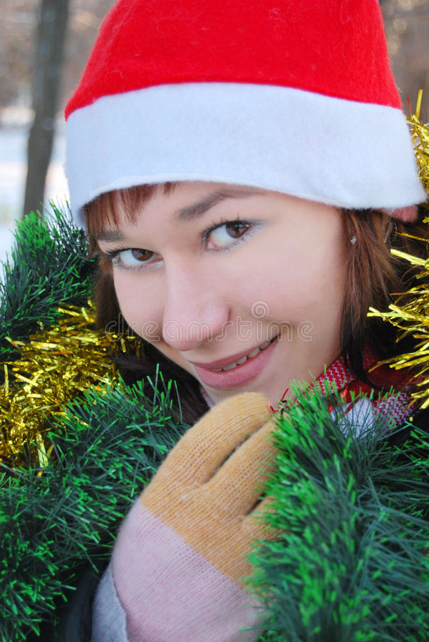 Santa Claus female royalty free stock image