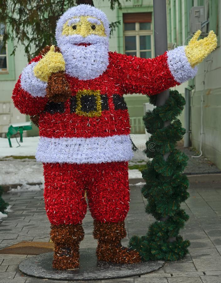 Santa Claus fez fora das decora??es do Natal fotos de stock royalty free