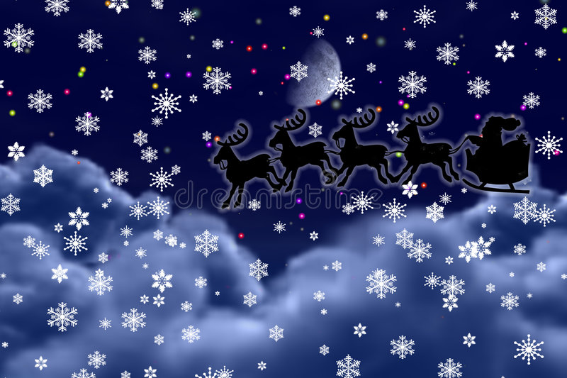 Santa Claus Flying royalty free stock image