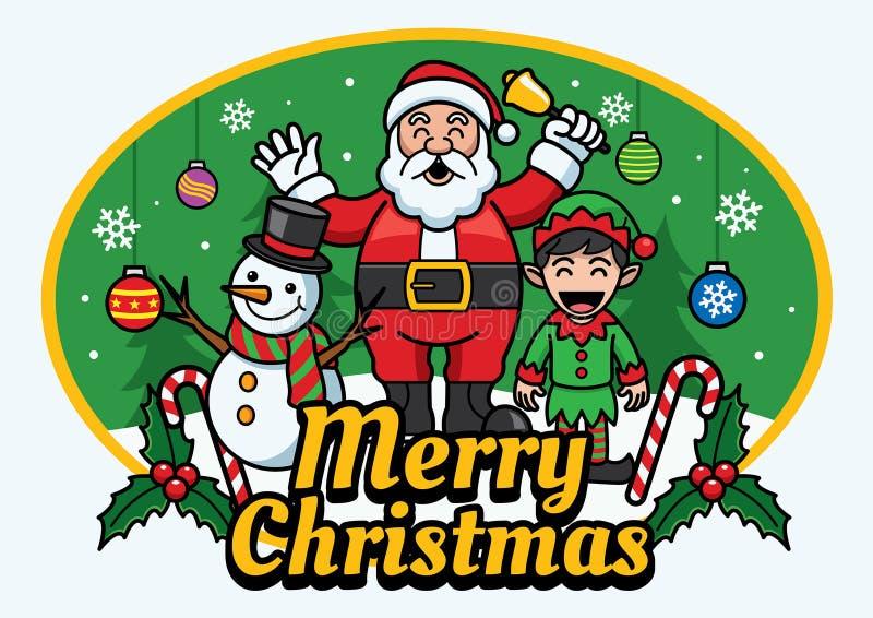 Santa Claus And Friends illustration de vecteur