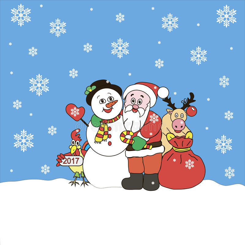 Santa Claus And Friends image stock