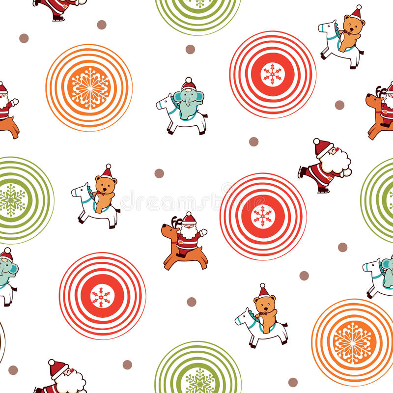 Download Santa Claus And Friends Pattern Royalty Free Stock Photography - Image: 11622967