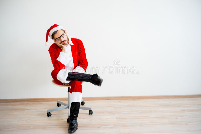 Santa Claus furada foto de stock