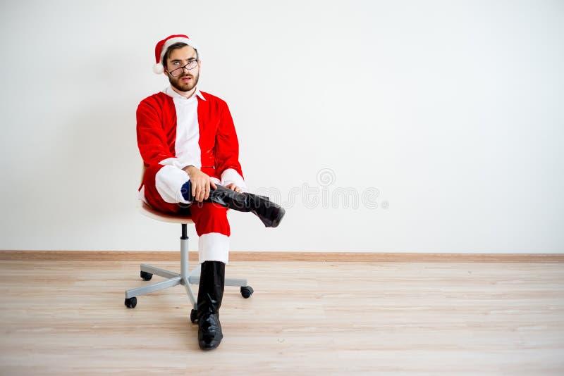 Santa Claus furada imagens de stock