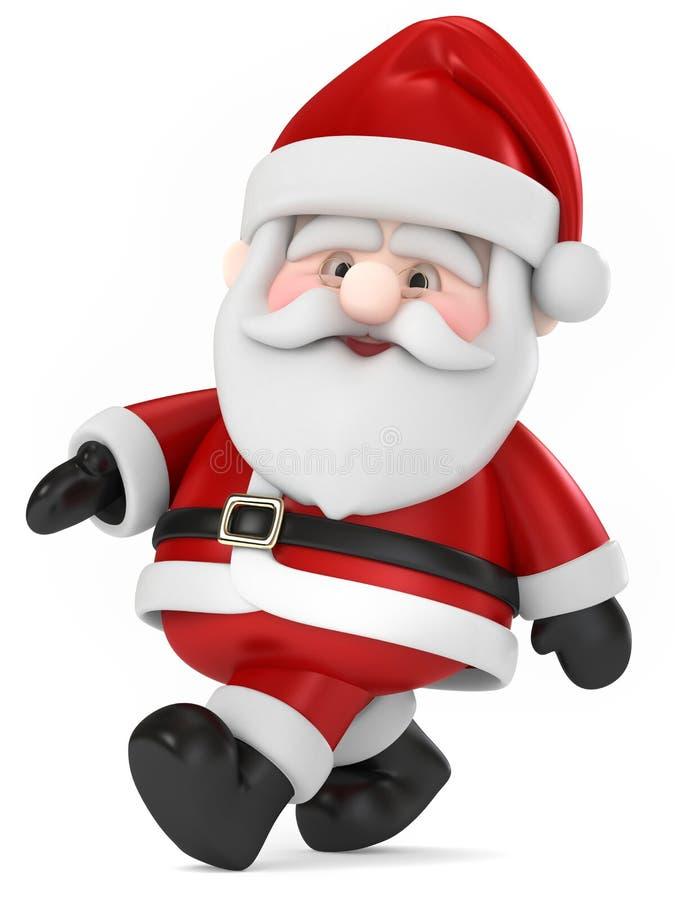 Santa Claus gå stock illustrationer