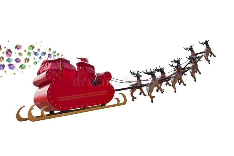 Santa Claus gåvor ankommer stock illustrationer