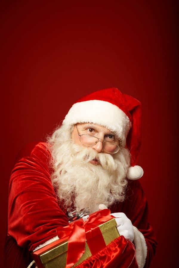 Santa Claus généreuse image stock