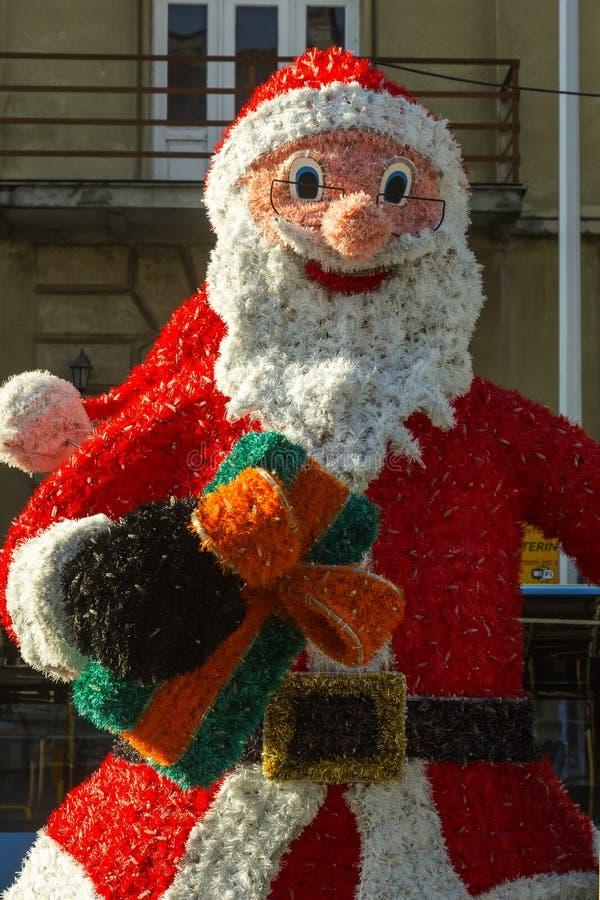Santa Claus garnering i Zagreb, Kroatien fotografering för bildbyråer