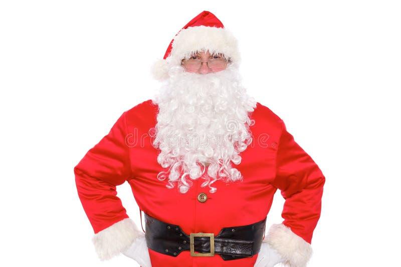 Santa Claus gentile, isolata su fondo bianco fotografie stock libere da diritti