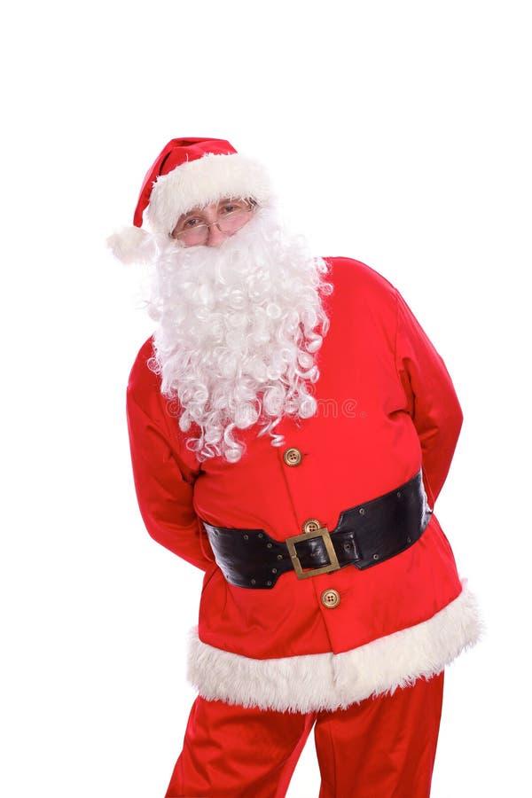 Santa Claus gentile, isolata su fondo bianco immagine stock