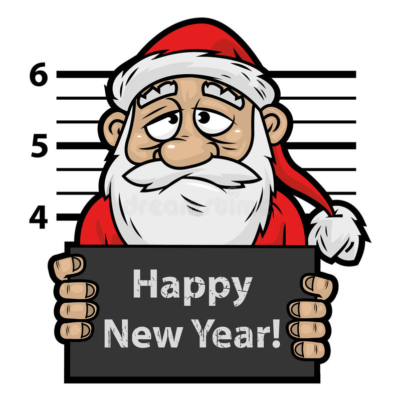 Santa Claus-gevangene vector illustratie