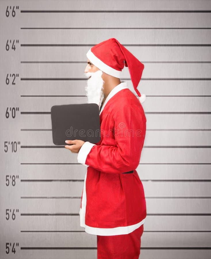Santa Claus in gevangenis royalty-vrije stock foto