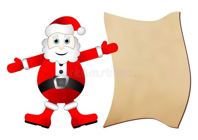 Santa Claus gift list vector illustration
