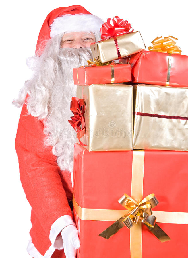 Download Santa Claus with gifts stock photo. Image of surprise - 21489854