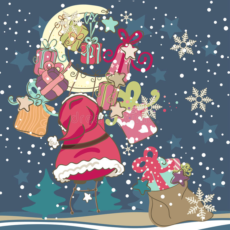 Download Santa Claus with Gifts stock illustration. Image of climb - 27942041