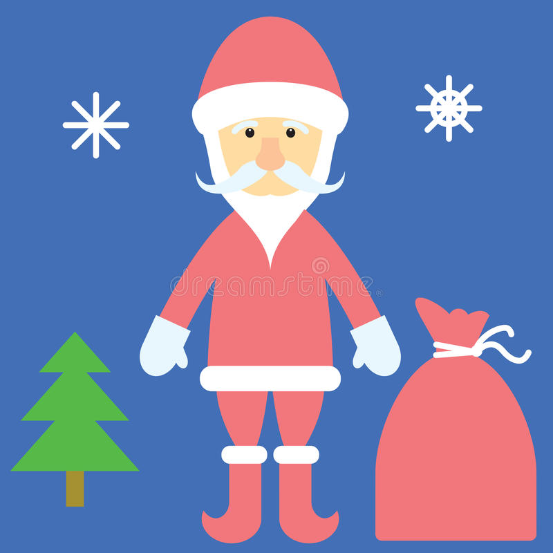 Download Santa Claus and gifts stock vector. Image of happy, claus - 33462683