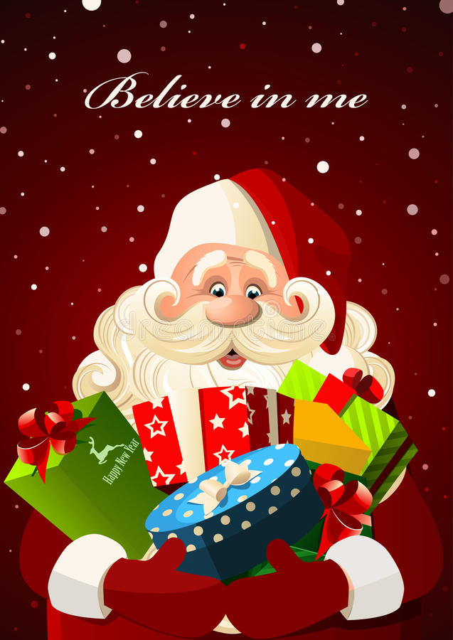 Santa Claus with gifts royalty free stock photos