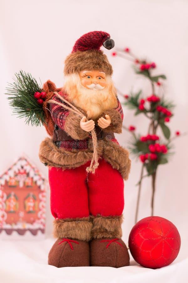 Santa Claus, giocattoli di natale immagine stock libera da diritti