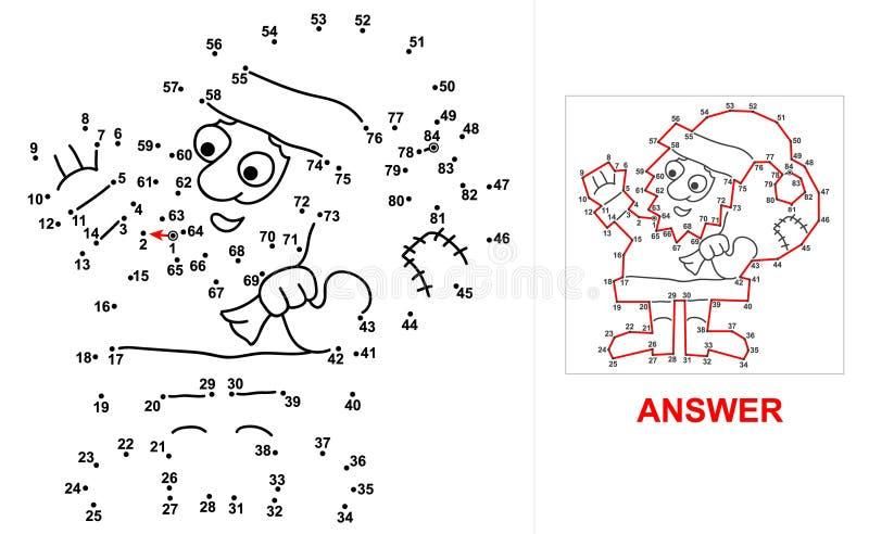 Santa Claus - gioco del punto illustrazione di stock
