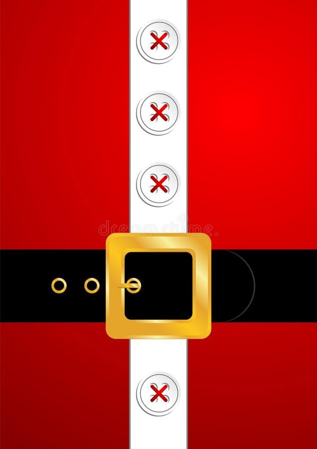 Santa Claus golden belt vector illustration