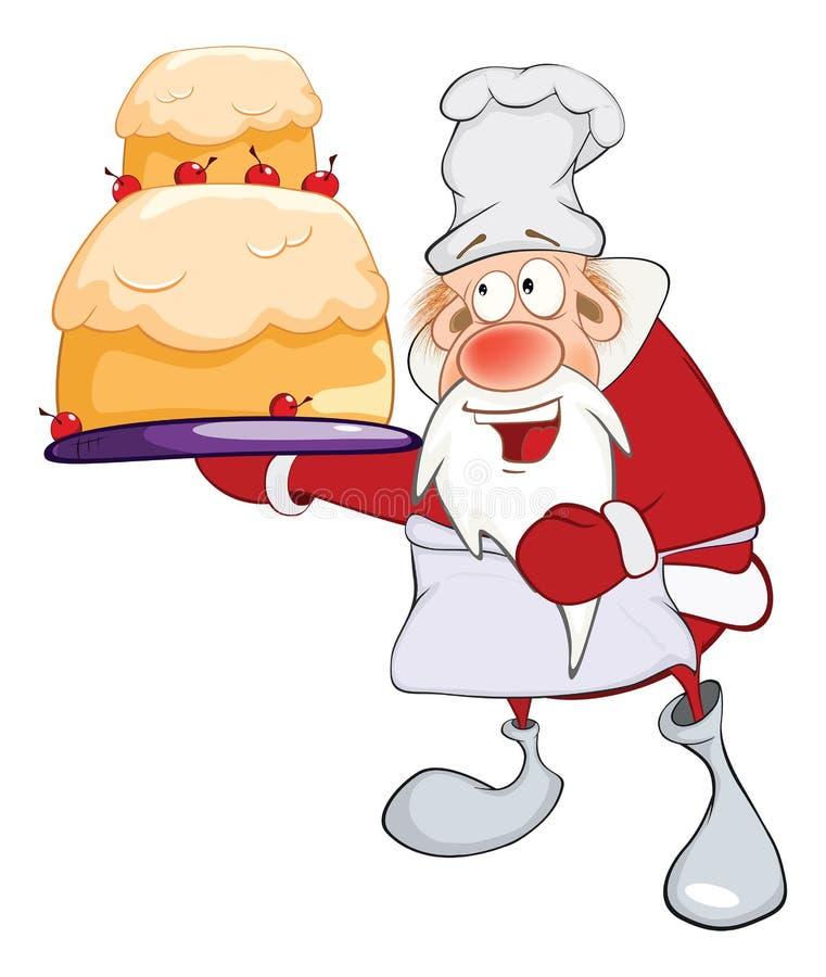 Santa Claus Gourmet Chef bonito ilustração royalty free