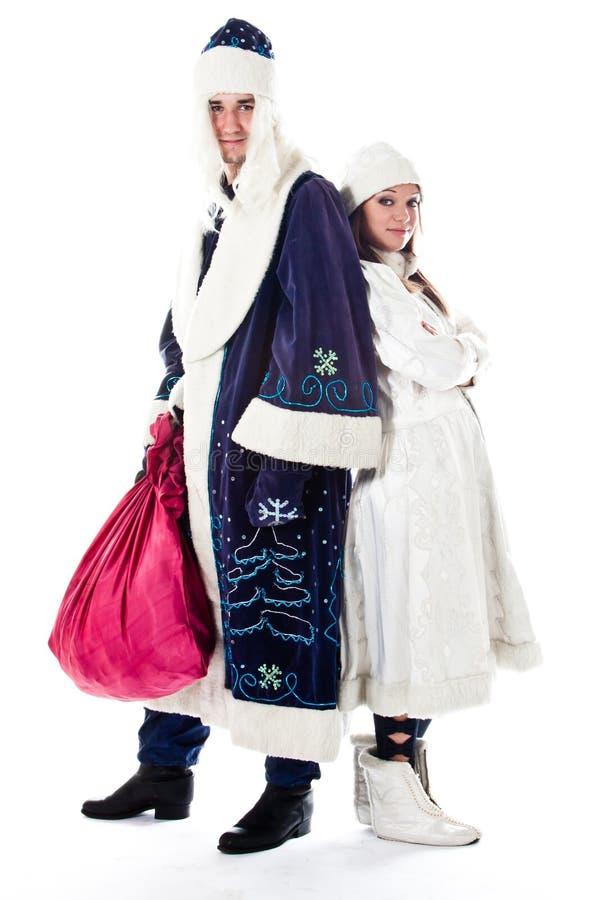 Download Santa Claus And Granddaughter Stock Photo - Image: 26664378