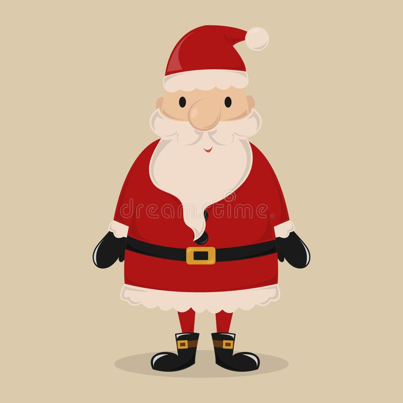 Santa Claus grassa illustrazione vettoriale