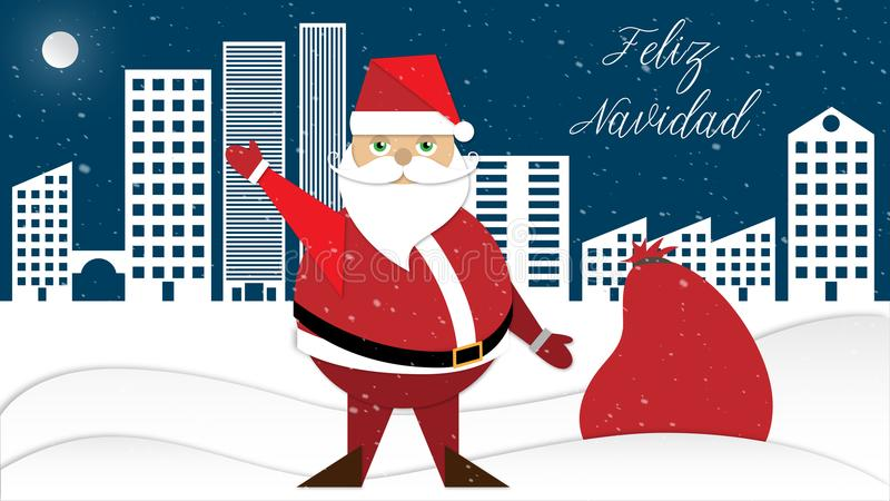 Santa Claus And His Sack Stock Vector. Illustration Of