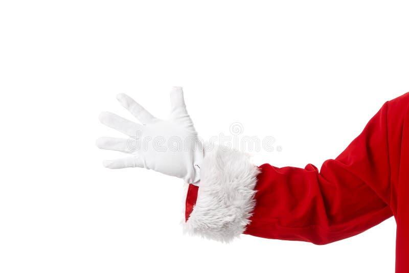Santa Claus hand arkivbilder