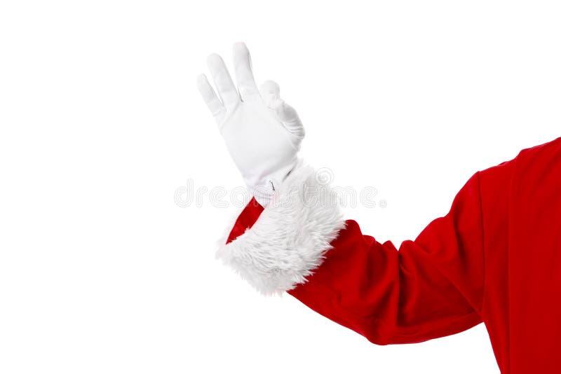 Santa Claus-hand stock foto