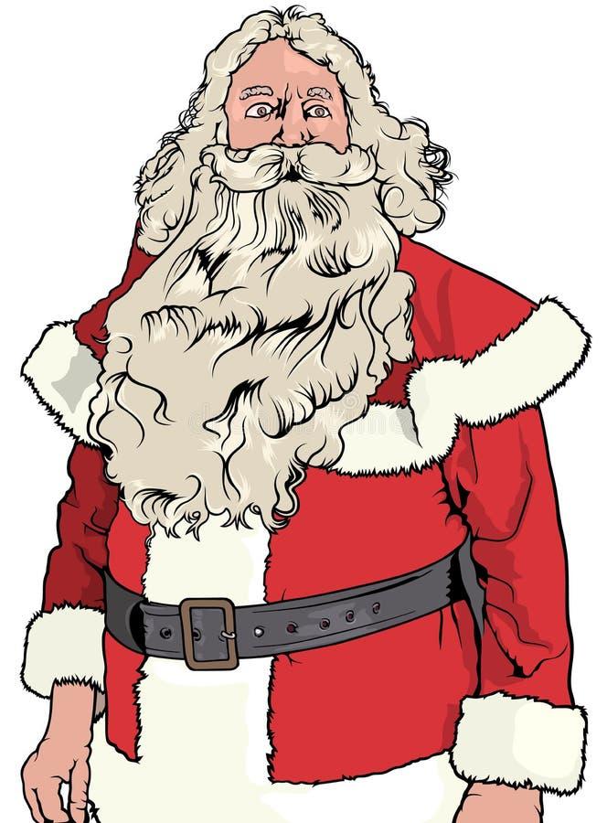 Santa Claus Without Hat illustration libre de droits