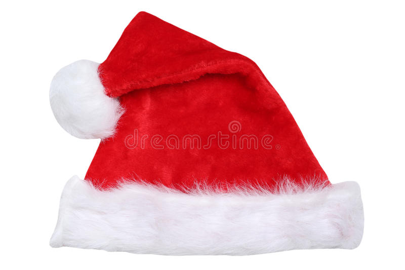 Santa Claus hat on Christmas isolated royalty free stock photography