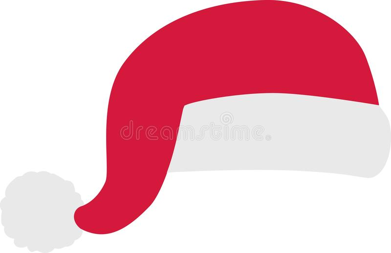 Santa claus hat comic royalty free stock image