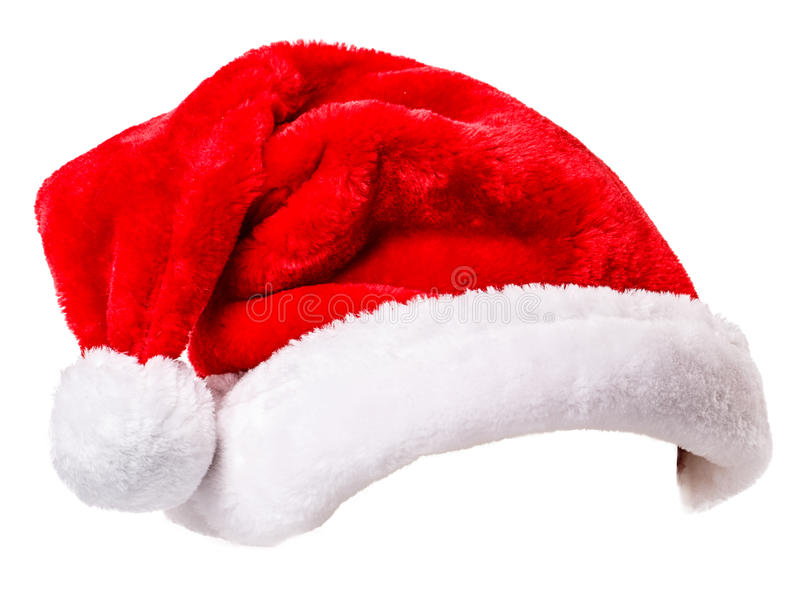 Santa Claus hat. Isolated on white background Clipping Path stock image