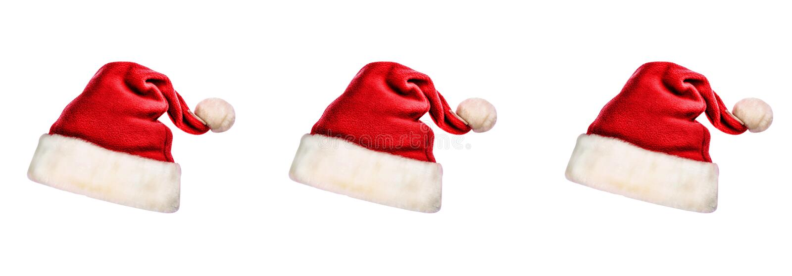 Santa Claus hat, isolated, white background, design stock photography