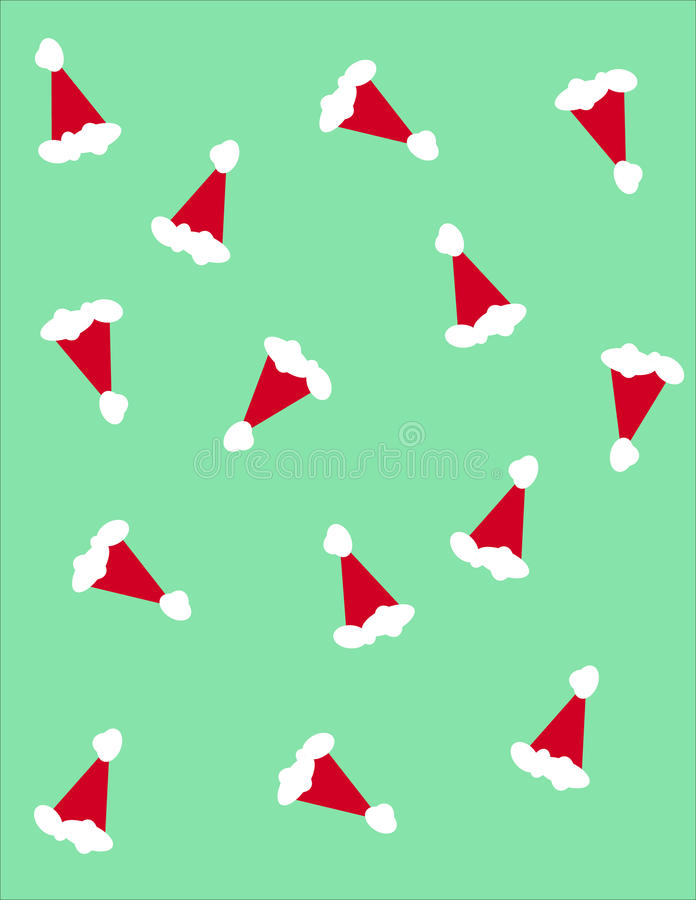 Santa claus hats stock illustration