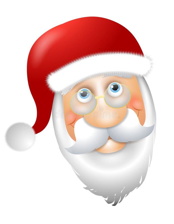 Santa Claus Head. An illustration featuring Santa Claus head smiling stock illustration
