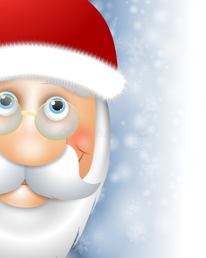 Santa Claus Head Border. An illustration featuring Santa Claus head smiling for use as a border or background vector illustration